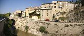 Roman Levee Wall And Medieval City, Vaison La Romaine, France