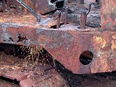 Cutting Rusty Steel