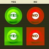 Yes and No icon. Vector icon set.