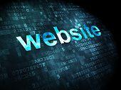 SEO web design concept: Website on digital background