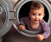 Dirty Baby On A Washer