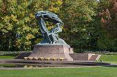 Polish Pianist Frederic Chopin Monument In Lazienki Park, Warszawa