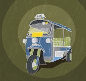 picture of rickshaw  - Old - JPG