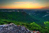 Crimea Canyon At Sunset Time
