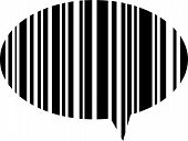 Speech bubble bar code