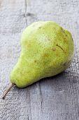 Yellow Duchesse Pear On Wood