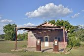 Old american country gasoline station