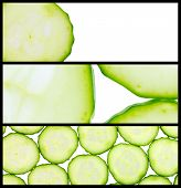 Collage Of Three Cucumber Images