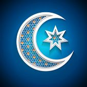 islamic moon - muslim community holiday symbol