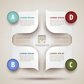 infographics modern business background - 3d paper shapes origami - bubble speech -vector illustrati
