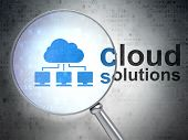 Cloud computing concept: Cloud Network and Cloud Solutions with