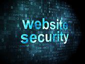 SEO web development concept: Website Security on digital backgro