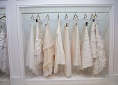 ZAGREB, CROATIA - OCTOBER 12: Wedding clothes presented on a fashion exhibition 'Wedding expo', on O