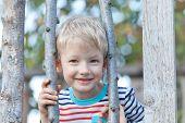 foto of have sweet dreams  - adorable playful boy having fun time at summer - JPG