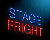 Stage Fright Concept.
