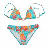 Bright Color Separate Swimsuit