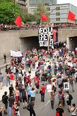 MONTREAL - MAY 22: Quebeckers demonstrate against new Law78, which imposes severe restrictions on ri