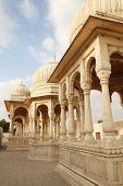 Cenotaphs for important maharaja in Rajasthan, India