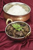 image of liver fry  - Mutton liver fried with onion and indian spices to make a traditional Kerala  - JPG