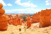 Bryce Canyon National Park landscape, Utah, United States. Nature scene showing beautiful hoodoos, p