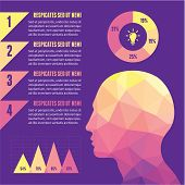 Infographic Concept with Human Head