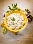 gnocchi with ricotta and nuts