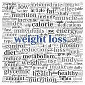 Weight loss words concept in tag cloud on white