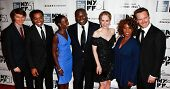 NEW YORK- OCT 8: Director Steve McQueen (c) and cast attend the