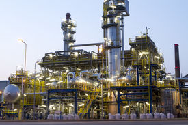 picture of reactor  - A photo of a petrochemical industrial plant - JPG