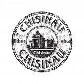 Chisinau grunge rubber stamp