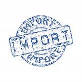 Import grunge rubber stamp