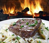 roast beef with pasta