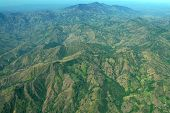 image of deforestation  - Aerial Costa Rica - JPG