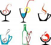 Set of beverages and drinks symbols