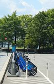 Citi bike station in Lower Manhattan