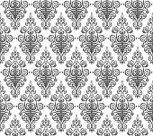 Vector background seamless damask pattern hand drawn