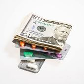 Dollar Currency and Pills