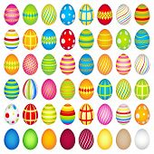 48 Colourful Easter Eggs