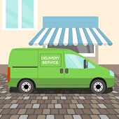 Green delivery Van