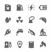 picture of ethanol  - Simple set of energy related vector icons for your design - JPG