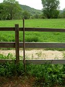 Pitchfork By Fence