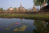 View Of The Ruins In Sukhothai Historical Park