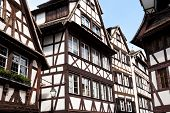 Traditional old houses in Strasbourg France