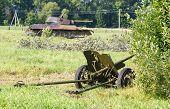 disguised Soviet field gun 45mm