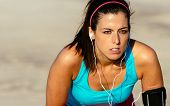 Female Runner Determined to Train