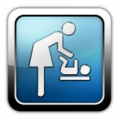 Icon Button Pictogram Baby Change