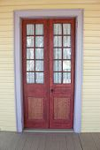 image of creole  - an antique door on a creole plantation house - JPG