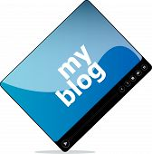 Video Movie Media Player With My Blog Word On It