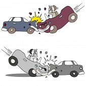 An image of a texting car accident.