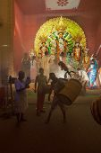 Kolkata , India - October 11, 2013 : Durga Puja Festival